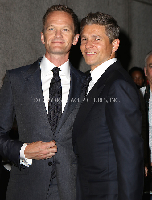 www.acepixs.com<br /> <br /> September 7 2016, New York City<br /> <br /> Neil Patrick Harris and David Burtka attending the Tom Ford fashion show during New York Fashion Week on September 7, 2016 in New York City.<br /> <br /> By Line: Nancy Rivera/ACE Pictures<br /> <br /> <br /> ACE Pictures Inc<br /> Tel: 6467670430<br /> Email: info@acepixs.com<br /> www.acepixs.com