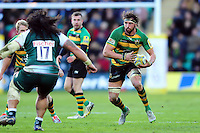 Tom Wood of Northampton Saints in possession. Aviva Premiership match, between Northampton Saints and Leicester Tigers on April 16, 2016 at Franklin's Gardens in Northampton, England. Photo by: Patrick Khachfe / JMP