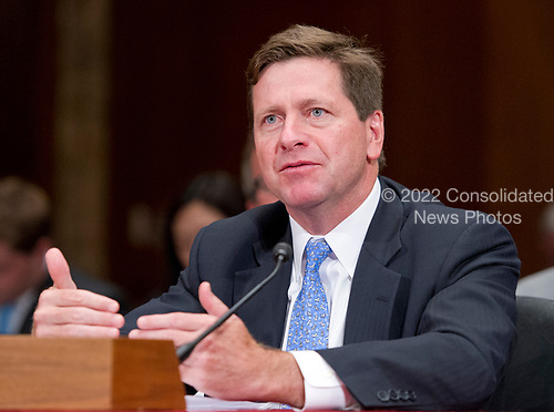 Jay Clayton, Chairman, United States Securities and Exchange Commission testifies before the US Senate Committee on Appropriations Subcommittee on Financial Services and General Government hearing to examine proposed budget estimates and justification for fiscal year 2018 for the SEC and the CFTC on Capitol Hill in Washington, DC on Tuesday, June 27, 2017.<br /> Credit: Ron Sachs / CNP