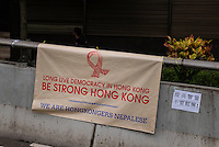 Hong Kong, Government Offices, 2 October 2014<br /> <br /> Students and other supporters of the Occupy Central movement congregating around the government offices area at Tamar. All the roads in the area are blocked from traffic and public transport.<br /> Hong Kong minorities like the nepalese show their solidarity.<br /> <br /> Photo Kees Metselaar