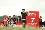 Espen Kofstad hits his tee shot on the 7th during the second round of the ISPS Handa Wales Open 2013 at the Celtic Manor Resort<br /> <br /> 30.08.13<br /> <br /> ©Steve Pope-Sportingwales