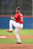 St. Louis Cardinals pitcher Robert Stock (36) during a minor league spring training game against the New York Mets on March 27, 2014 at the Port St. Lucie Training Complex in St. Lucie, Florida.  (Mike Janes/Four Seam Images)