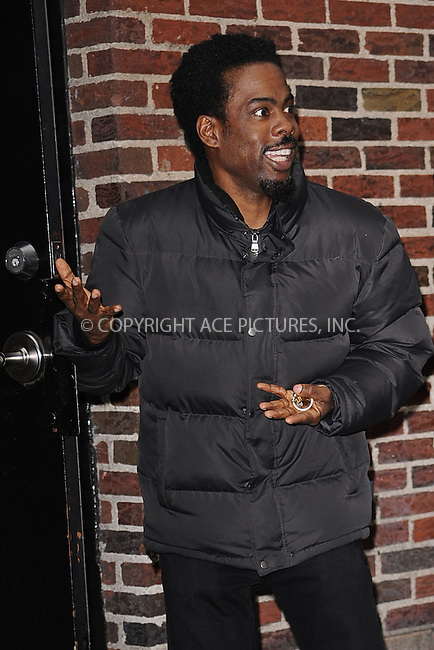 WWW.ACEPIXS.COM . . . . . .March 31, 2011...New York City...Chris Rock tapes the Late Show with David Letterman on March 31, 2011 in New York City....Please byline: KRISTIN CALLAHAN - ACEPIXS.COM.. . . . . . ..Ace Pictures, Inc: ..tel: (212) 243 8787 or (646) 769 0430..e-mail: info@acepixs.com..web: http://www.acepixs.com .