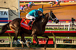 DEL MAR, CA  SEPTEMBER 2: #7 Nucky, ridden by Norberto Arroyo, Jr., wins the Runhappy Del Mar Futurity (Grade l) on September 2, 2019, at Del Mar Thoroughbred Club in Del Mar, CA.( Photo by Casey Phillips/Eclipse Sportswire/CSM)