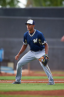Milwaukee Brewers Jake Gatewood (22) during an instructional league game against the San Diego Padres on October 6, 2015 at the Peoria Sports Complex in Peoria, Arizona.  (Mike Janes/Four Seam Images)