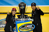 Champion team owner Shigeaki Hattori #16: Brett Moffitt, Hattori Racing Enterprises, Toyota Tundra AISIN Group