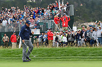 Phil Mickelson (USA) chips in from off the green on 6 during round 2 of the 2019 US Open, Pebble Beach Golf Links, Monterrey, California, USA. 6/14/2019.<br /> Picture: Golffile | Ken Murray<br /> <br /> All photo usage must carry mandatory copyright credit (© Golffile | Ken Murray)