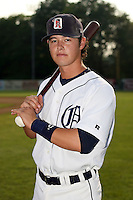 July 7th 2008:  Chris White of the Oneonta Tigers, Class-A affiliate of Detroit Tigers, during a game at Damaschke Field in Oneonta, NY.  Photo by:  Mike Janes/Four Seam Images