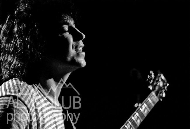"Elvin Bishop.Modesto California In January of 1974 Rockn' Chair Productions held a concert at the Modesto National Guard Armory, 630 Rouse Avenue.  The headliner was Elvin Bishop. Elvin's group consisted of Johnny ""V"" Vernazza, lead electric guitar and back up vocals; Don Baldwin, drums and back up vocals; Michael Fly Brooks, Bass;  and Stephen Miller on the Keyboard.  The opening acts were Modesto's Home Grown and Berkley's The Rockets.  Home Grown members were Patrick Durr, Michael Lingg and Bruce Johnson. The Rockets a Berkeley rock band with Eddie Money (vocals), Dan Alexander (guitar), John Cuniberti (drums) and Chris Solberg (bass).  Photo by Al Golub"
