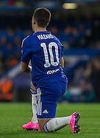Eden Hazard of Chelsea during the UEFA Champions League match between Chelsea and Maccabi Tel Aviv at Stamford Bridge, London, England on 16 September 2015. Photo by Andy Rowland.