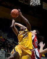 Talia Caldwell of California shoots the ball during the game against St. Mary's at Haas Pavilion in Berkeley, California on November 15th, 2012.  California defeated St. Mary's, 89-41.