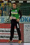 GER - Mannheim, Germany, September 23: During the DKB Handball Bundesliga match between Rhein-Neckar Loewen (yellow) and TVB 1898 Stuttgart (white) on September 23, 2015 at SAP Arena in Mannheim, Germany. Final score 31-20 (19-8) . (Photo by Dirk Markgraf / www.265-images.com) *** Local caption *** Sebastian Arnold #16 of TVB 1898 Stuttgart