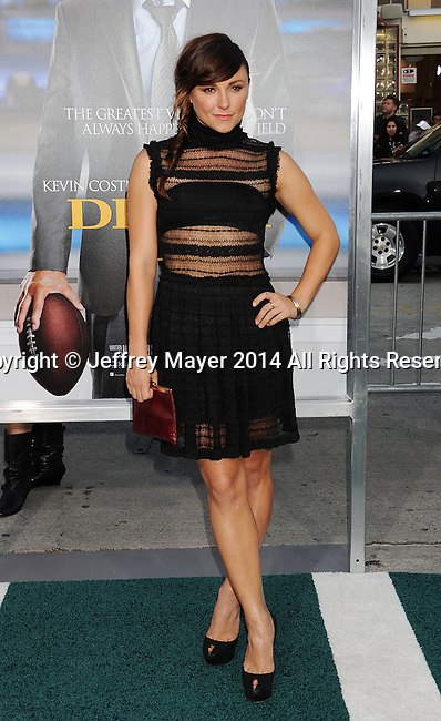 WESTWOOD, CA- APRIL 07: Actress Briana Evigan attends the Los Angeles premiere of 'Draft Day' at the Regency Village Theatre on April 7, 2014 in Westwood, California.