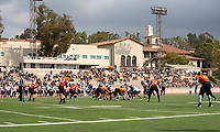 The Occidental Tigers football team plays against the Whittier Poets at Jack Kemp Stadium on Saturday, Oct. 6, 2018.<br /> (Photo by Marc Campos, Occidental College Photographer)