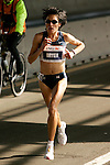 Elva Dryer (USA) crosses the Queensboro Bridge from Queens into Manhattan while competing in the ING New York City Marathon in New York, New York on November 4, 2007.  Martin Lel (KEN) won the men's race with a time of 2:09:04  Paula Radcliffe (GBR) won the women's race with a time of 2:23:09.
