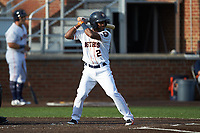 Osvaldo Duarte (2) of the Buies Creek Astros at bat against the Frederick Keys at Jim Perry Stadium on April 28, 2018 in Buies Creek, North Carolina. The Astros defeated the Keys 9-4.  (Brian Westerholt/Four Seam Images)