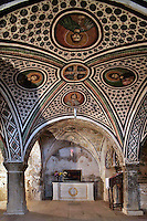 crypt,Tomb of Osios Loukas,cross-vault paintings,AD 955,Osios Loukas Monastery,Greece