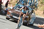 Ben Gastauer (LUX) AG2R La Mondiale climbs Sierra de la Alfaguara during Stage 4 of the La Vuelta 2018, running 162km from Velez-Malaga to Alfacar, Sierra de la Alfaguara, Andalucia, Spain. 28th August 2018.<br /> Picture: Colin Flockton   Cyclefile<br /> <br /> <br /> All photos usage must carry mandatory copyright credit (&copy; Cyclefile   Colin Flockton)