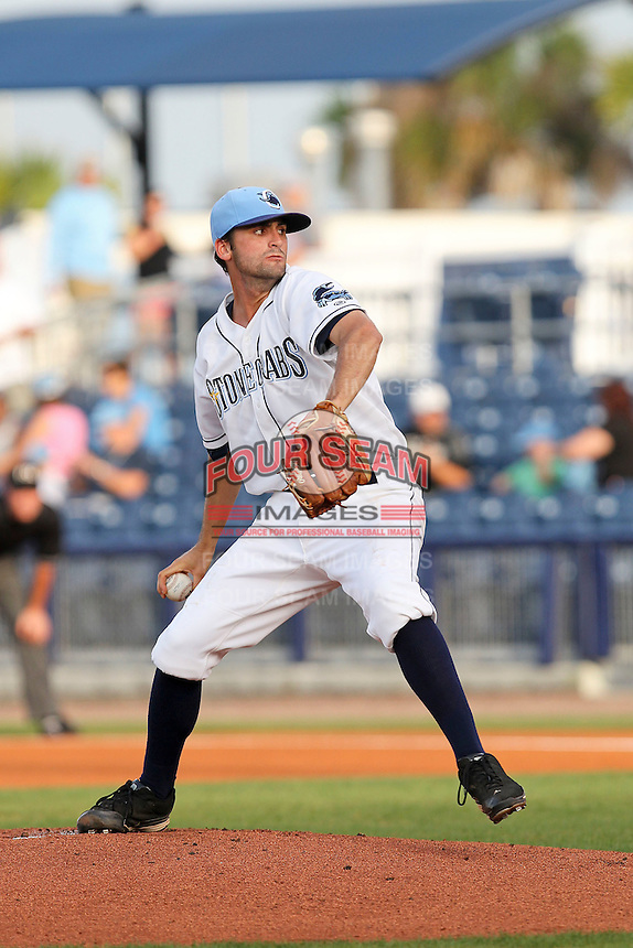 May 18, 2010 Starting Pitcher Nick Barnese of the Charlotte Stone Crabs delivers a pitch during a game at Charlotte Sports Park in Port Charlotte FL. The Stone Crabs are the Florida State League Class-A affiliate of the Tampa Bay Rays,  Photo by: Mark LoMoglio/Four Seam Images