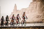 The peloton during Stage 4 of the Saudi Tour 2020 running 137km from Wadi Namar Park to Al Muzahimiyah King Saud University, Saudi Arabia. 7th February 2020. <br /> Picture: ASO/Pauline Ballet   Cyclefile<br /> All photos usage must carry mandatory copyright credit (© Cyclefile   ASO/Pauline Ballet)