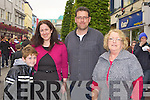 Caleb Russell, Cathy Scanlon, Tony Murphy and Brid Murphy at the Killarney Tidy town's celebration street party on Sunday