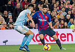 Luis Alberto Suarez Diaz of FC Barcelona (R) fights for the ball with David Costas Cordal of RC Celta de Vigo during the La Liga 2018-19 match between FC Barcelona and RC Celta de Vigo at Camp Nou on 22 December 2018 in Barcelona, Spain. Photo by Vicens Gimenez / Power Sport Images