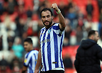 Atdhe Nuhiu of Sheffield Wednesday celebrates after the match during Charlton Athletic vs Sheffield Wednesday, Sky Bet EFL Championship Football at The Valley on 30th November 2019