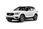 White 2019 Volvo XC40 T5 AWD R-Design Luxury car SUV isolated on white studio background with clipping path Image © MaximImages, License at https://www.maximimages.com