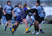 Action from the Wellington secondary schools girls 1st XV rugby match between Wellington East Girls' College and St Mary's College at Te Whaea in Wellington, New Zealand on Wednesday, 30 May 2018. Photo: Dave Lintott / lintottphoto.co.nz