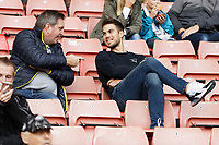 Gregor Zabret with Swansea supporters during the Sky Bet Championship match between Barnsley and Swansea City at Oakwell Stadium, Barnsley, England, UK. Saturday 19 October 2019