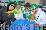 CHaving a good tome at the St. Patrick's day parade in Caherciveen were Tim O'Sullivan, John Galvin, Breeda Brennan and Helen Mc Aleese...3207-3211..   Copyright Kerry's Eye 2008