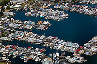 aerial photograph, houseboats Sausalito, Marin County, California