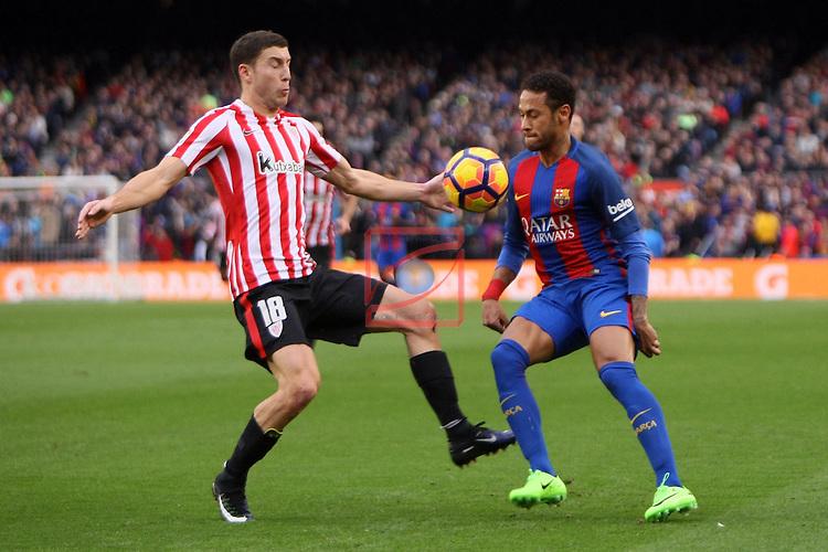League Santander 2016/2017. Game: 21.<br /> FC Barcelona vs Athletic Club: 3-0.<br /> De Marcos vs Neymar Jr.