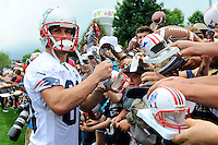 July 24, 2014 - Foxborough, Massachusetts, U.S.- New England Patriots wide receiver Danny Amendola (80) signs autographs for fans at the New England Patriots training camp held at Gillette Stadium in Foxborough Mass.Eric Canha/CSM