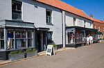 Upmarket clothes shop in the fashionable village of Burnham Market on the north Norfolk coast, England