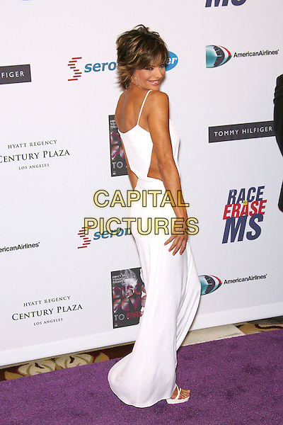 LISA RINNA.13th Annual Race to Erase MS - Arrivals held at the Hyatt Regency Century Plaza Hotel, Century City, California, USA, 12 May 2006..full length white dress cut out sides.Ref: ADM/ZL.www.capitalpictures.com.sales@capitalpictures.com.©Zach Lipp/AdMedia/Capital Pictures.
