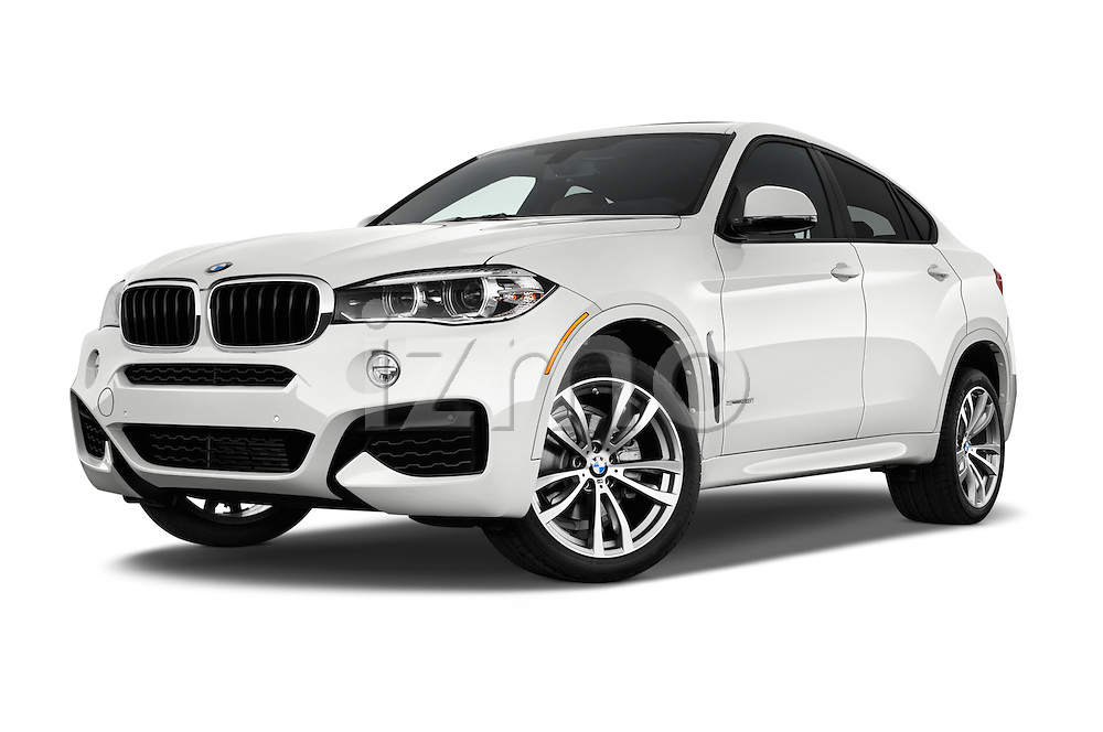 Stock pictures of low aggressive front three quarter view of 2017 BMW X6 sDrive35i 5 Door SUV Low Aggressive