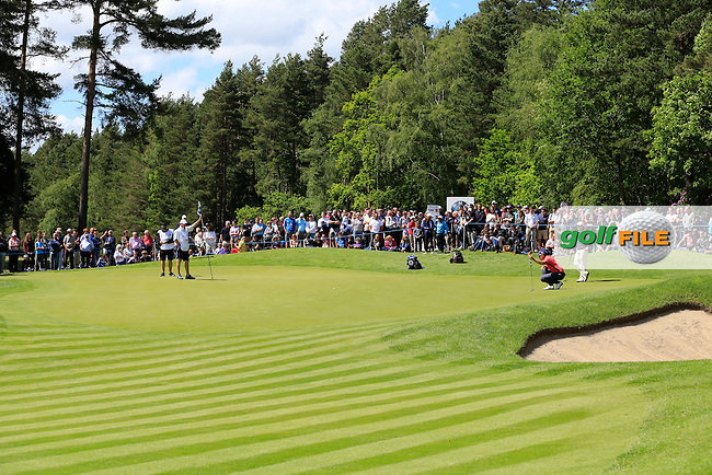 Henrik STENSON (SWE) during the final round of the BMW PGA championship, Wentworth Golf Club, Virginia Water, London.<br /> Picture: Fran Caffrey www.golffile.ie