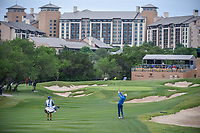 Martin Laird (SCO) hits his approach shot on 15 during Round 2 of the Valero Texas Open, AT&amp;T Oaks Course, TPC San Antonio, San Antonio, Texas, USA. 4/20/2018.<br /> Picture: Golffile | Ken Murray<br /> <br /> <br /> All photo usage must carry mandatory copyright credit (&copy; Golffile | Ken Murray)