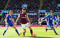 Robert Snodgrass of Aston Villa wins the ball against Maikel Kieftenbeld of Birmingham City<br /> <br /> Photographer Leila Coker/CameraSport<br /> <br /> The EFL Sky Bet Championship - Aston Villa v Birmingham City - Sunday 11th February 2018 - Villa Park - Birmingham<br /> <br /> World Copyright &copy; 2018 CameraSport. All rights reserved. 43 Linden Ave. Countesthorpe. Leicester. England. LE8 5PG - Tel: +44 (0) 116 277 4147 - admin@camerasport.com - www.camerasport.com