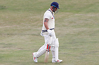 Darren Stevens of Kent returns to the dressing room having been caught out during Essex CCC vs Kent CCC, Bob Willis Trophy Cricket at The Cloudfm County Ground on 3rd August 2020