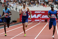 Rabah Yousif of Great Britain and Tony Mcquay of USA and Martyn Rooney of Great Britain compete iin the menís 400 metres during the Muller Anniversary Games at The London Stadium on 9th July 2017