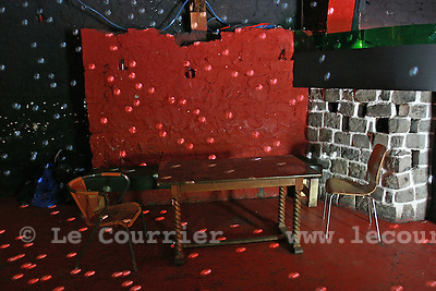 Genève, le 21.05.2008.Le Piment Rouge sur le site d'Artamis.Interieur..© Le Courrier / J.-P. Di Silvestro