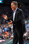 GLENDALE, AZ - APRIL 03:  Head coach Mark Few of the Gonzaga Bulldogs reacts to gameplay during the 2017 NCAA Men's Final Four National Championship game against the North Carolina Tar Heels  at University of Phoenix Stadium on April 3, 2017 in Glendale, Arizona.  (Photo by Brett Wilhelm/NCAA Photos via Getty Images)