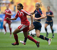 Lindsay Tarpley, Candace Chapman.  The USWNT defeated Canada, 1-0, at Suwon World Cup Stadium in Suwon, South Korea, to win the Peace Queen Cup.