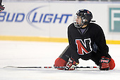 Danielle Kerr (NU - 96) - The Northeastern University Huskies practice on the ice at Fenway Park on Thursday, January 7, 2010, in Boston, Massachusetts.