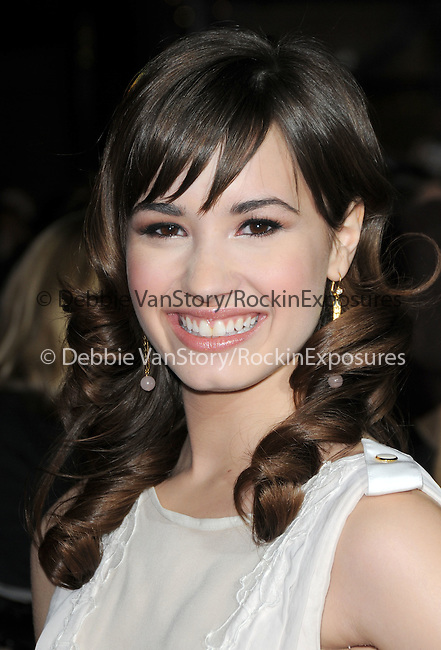 """Demi Lovato at Summit Entertainment's highly anticipated Premiere of """"Twilight"""" held at The Mann's Village Theatre in Westwood, California on November 17,2008                                                                     Copyright 2008 Debbie VanStory/RockinExposures"""