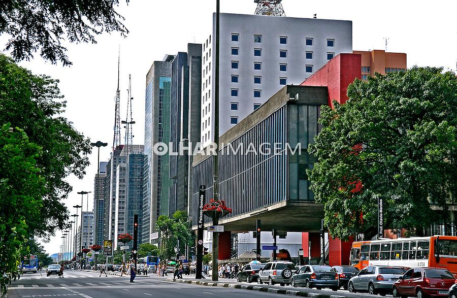 Museu de Arte de São Paulo, Masp, na Avenida Paulista. São Paulo. 2007. Foto de Juca Martins.