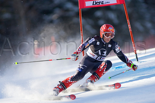 LIENZ, AUSTRIA 28 December 2009. Nika Fleiss CRO speeds down the course while competing in the first run of the women's Audi FIS Alpine Skiing World Cup giant slalom race.