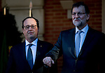 The President of the republic of France Frencoise Hollande visit the president of Spain Mariano Rajoy in Moncloa Palace. 2015703/04. Samuel de Roman / Photocall3000.